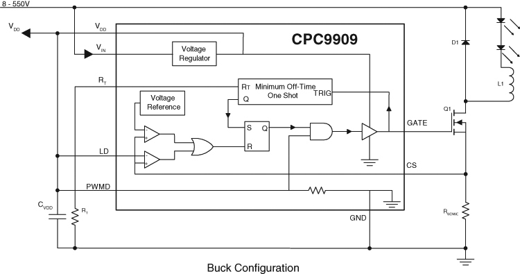 CPC9909 Typical Application Schematic